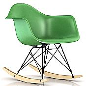 Eames Molded Fiberglass Armchair- Rocker Base