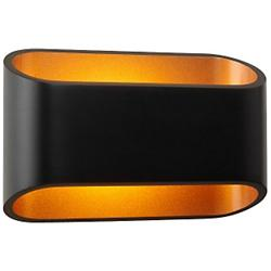 Eclipse I Wall Sconce (Black/Gold/Dimmable) - OPEN BOX
