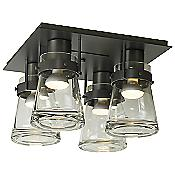 Erlenmeyer 4 Light Flushmount