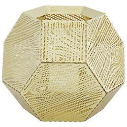 Etch Wood Tea Light Holder (Brass) - OPEN BOX RETURN