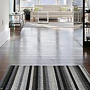 Even Stripe Shag Indoor/Outdoor Mat