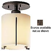 Exos Round Semi-Flushmount (Stone/Bronze) - OPEN BOX RETURN