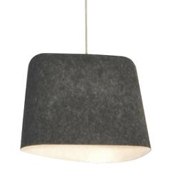 Felt Shade Pendant (Grey/White) - OPEN BOX RETURN