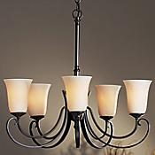 Five Arms Scroll Up Light Chandelier
