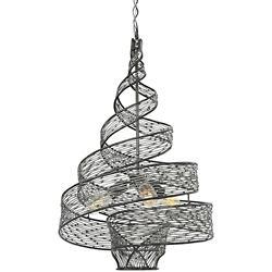 Flow 3-Light Twisted Pendant
