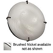 Fusion Clips Round Ceiling Light (Weave/Nickel) - OPEN BOX