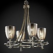 Fusion Mercury Glass Arcadia Chandelier