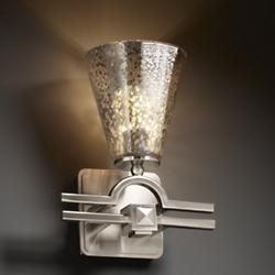 Fusion Mercury Glass Argyle Cone Wall Sconce