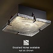 Fusion Mercury Glass Clips Flushmount (Nk) - OPEN BOX RETURN