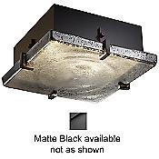 Fusion Mercury Glass Flushmount (Black) - OPEN BOX RETURN
