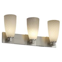 Fusion Tall Cylinder Weave Shade Modular Bath Bar