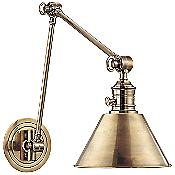 Garden City Double-Arm Wall Sconce (Brass/Large) - OPEN BOX