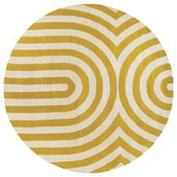 Geometric Maize/Cream Tufted Pile Rug