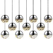 Grapes LED 11-Light Rectangular Multipoint Pendant