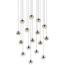 Grapes LED 16-Light Square Pendant