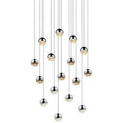 Grapes LED 16-Light Square Pendant