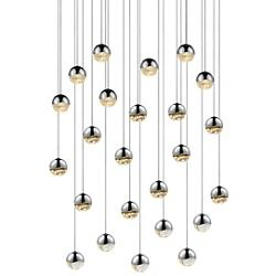 Grapes LED 24-Light Round Multipoint Pendant