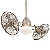 Gyro Wet Ceiling Fan (Brushed Nickel) - OPEN BOX RETURN
