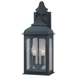 Henry Street Outdoor Wall Sconce w/ Clear Seeded Glass