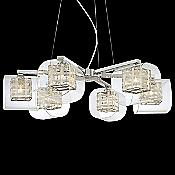 Jewel Box Chandelier (Clear/Chrome) - OPEN BOX RETURN