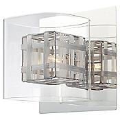 Jewel Box Wall Sconce (Clear/Chrome) - OPEN BOX RETURN