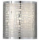 Joplin Wall Sconce (Chrome/Off White) - OPEN BOX RETURN