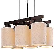Kimono 6-Light Chandelier (Bronze/Beige) - OPEN BOX RETURN