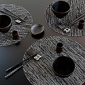 Knit Set of 4 Round Tablemats
