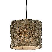Knotted Rattan Pendant