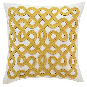 Red Throw Pillow <br/> Labyrinth Pillow by DwellStudio