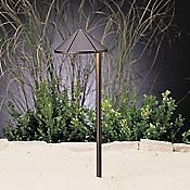Landscape LED Side Mount Path Light - Cast Brass
