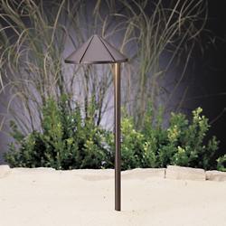 Landscape LED Side Mount Path Light - Cast Brass