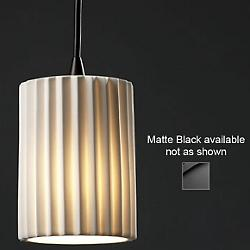 Limoges Mini Flat Rim Pendant (Black/Pleats) - OPEN BOX RETURN