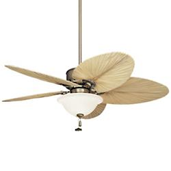 Maui Bay Tropical Leaf Blade Ceiling Fan