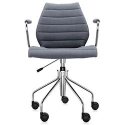 Maui Soft Swivel Armchair (Grey) - OPEN BOX RETURN