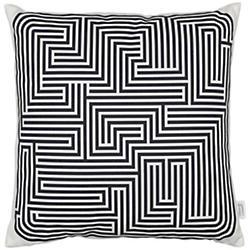 Maze Graphic Pillow (Black) - OPEN BOX RETURN