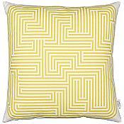 Maze Graphic Pillow (Mustard) - OPEN BOX RETURN