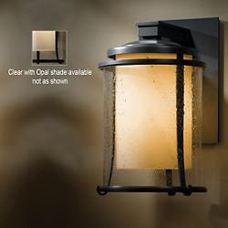 Meridian Outdoor Wall Sconce (Opal/Black) - OPEN BOX RETURN