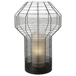Mesh Black Table Lamp
