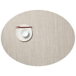 Mini Basketweave Oval Tablemat (Parchment) - OPEN BOX