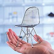 "Miniature Eames DKR ""Wire Chair"""