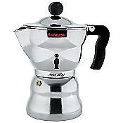Moka Alessi Stovetop Espresso (Black/6 cup) - OPEN BOX