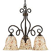 Monterey Mosaic Downlight Chandelier
