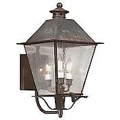 Montgomery Outdoor Wall Sconce (Iron/Clear/Large) - OPEN BOX RETURN