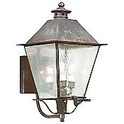 Montgomery Outdoor Wall Sconce (Rust/Clear/Large) - OPEN BOX