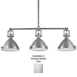 Naugatuck Linear Suspension (Antique Nickel) - OPEN BOX