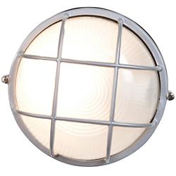 Nauticus Round Ceiling/Wall Light (Satin/Small) - OPEN BOX