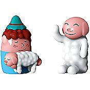 Nello Pastorello and Ciao Ciao Set of 2 Figurines