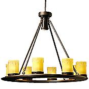 Oak Trail Outdoor Chandelier