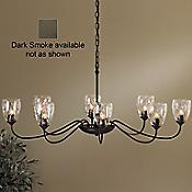 Oval Eight Arms Chandelier w/ Water Glass (Smoke) - OPEN BOX